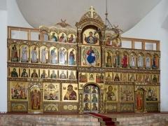 Создающийся иконостас в храме во имя Собора Московских Святых в Бибиреве, г. Москва