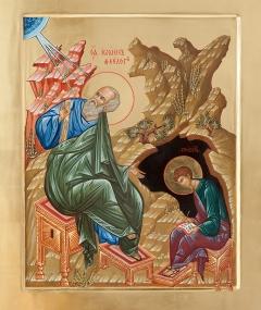 Царские врата. Фрагмент. Апостол и евангелист Иоанн Богослов