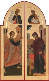 Царские врата: Благовещение, пророки Давид и Исаия