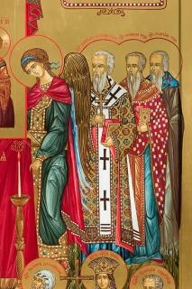 Икона «Торжество Православия». Фрагмент 4
