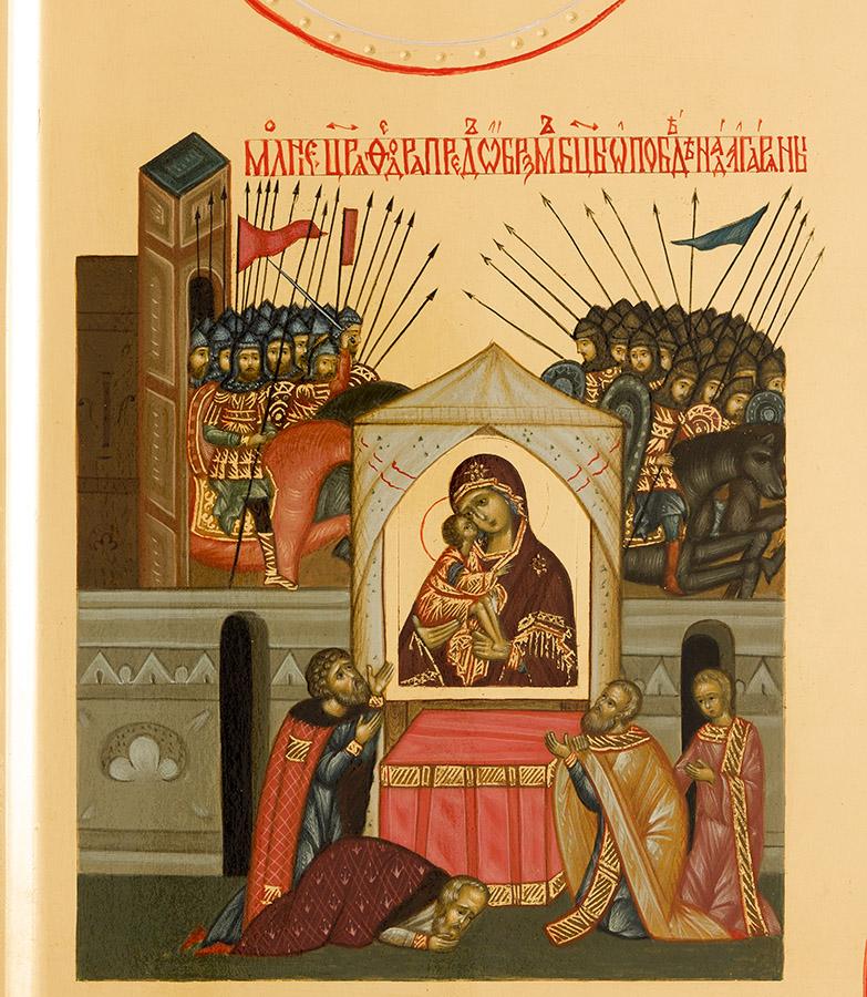 Донская икона Божией Матери. Клеймо