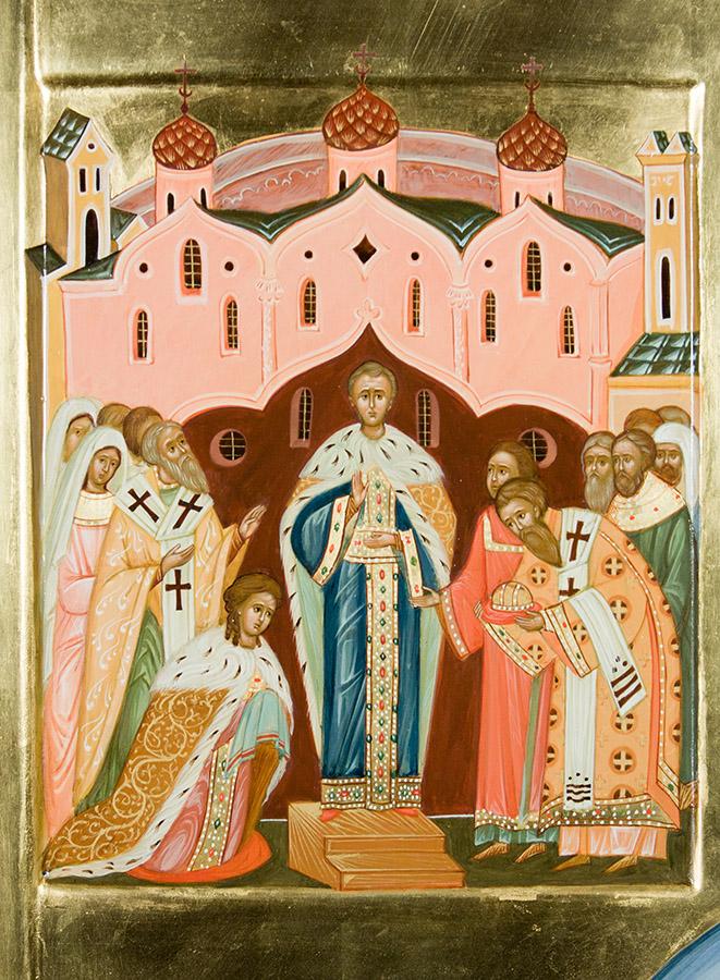 Святой праведный Феодор Томский. Клеймо