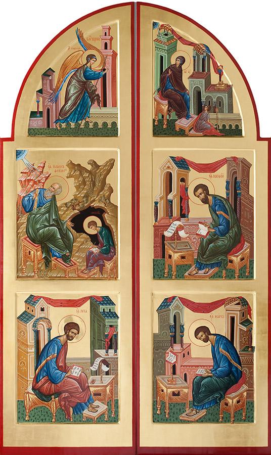 Царские врата. Благовещение и Евангелисты
