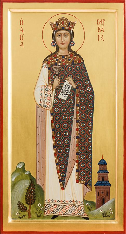 Писанная икона святой